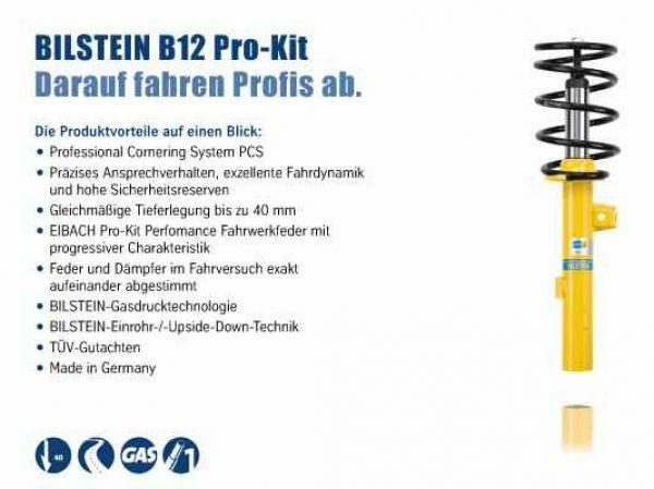 Eibach Pro-Kit Federn für Audi A3 8P 1.8 2.0 TFSI//TDI mit ABE Tieferlegung